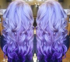 Perfect blend from pale lilac to dark purple