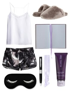 G'night by pink-loverr14 on Polyvore featuring H&M, UGG Australia, Glam Bands, Michael Todd True Organics and Smythson