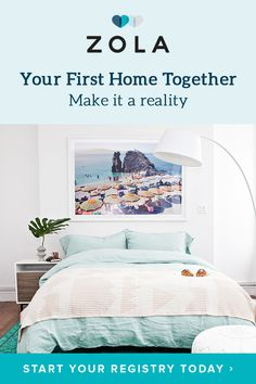 Sign up for the all-in-one registry to build a bedroom you both love with bedding from Hawkins, Brooklinen & more great brands.