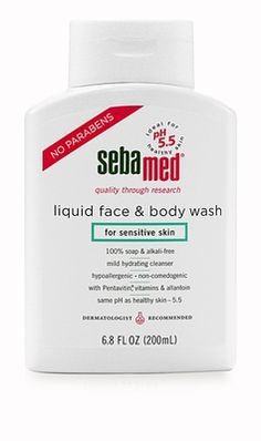 CB: BEST PSORIASIS TREATMENTS Sebamed Liquid Face & Body Wash, soap-free and pH balanced to help heal the epidermis. Head over to CB Counter Intelligence to learn more. http://www.charlottesbook.com/charlottes-pages/psoriasis-treatments-to-do-at-home/