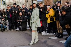 Tracking every scarf print, denim jacket, and chunky chain outside the runways. Milan Fashion, Fashion Trends, Street Fashion, Marketing Program, Street Style Trends, Fashion Studio, Fall, Jackets, Outfits