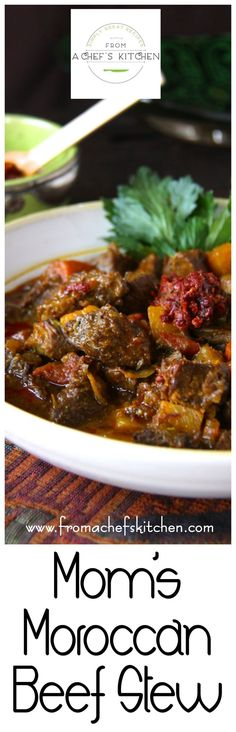 Moroccan Beef Stew This Moroccan Beef Stew is a taste of the exotic!This Moroccan Beef Stew is a taste of the exotic! Morrocan Food, Moroccan Dishes, Moroccan Recipes, Moroccan Beef Stew, Moroccan Chicken, Meat Recipes, Cooking Recipes, Beef Tagine Recipes, Gastronomia