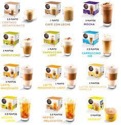 Cafés Dolce Gusto Coffee Shop Menu, Coffee Bar Home, Coffee Corner, Slimming World Syns, Slimming World Recipes, Latte Macchiato, Coffee Milk, Coffee Pods, Food Catalog