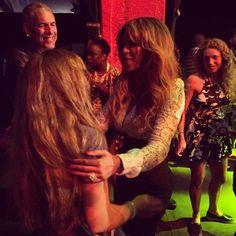 Beyoncé With A Fan At Global Citizen Festival 27.09.2014