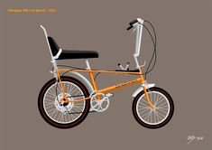 'Classic Raleigh Chopper 10 Speed in Pumpkin Orange' Canvas Print by Tunstall Custom Choppers For Sale, Custom Moped, Custom Paint Motorcycle, Motorcycle Types, Motorcycle Design, Bike Design, Custom Motorcycles, Custom Bikes, Scrambler Custom