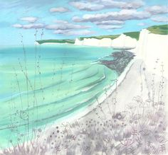Buy Birling Gap in winter sun, Acrylic painting by Mary Stubberfield on Artfinder. Discover thousands of other original paintings, prints, sculptures and photography from independent artists. Sun Painting, Acrylic Painting On Paper, Paper Art, Original Paintings, Original Art, British Seaside, Winter Sun, Landscape Art, Painting Inspiration