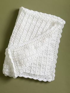 Classic coverlet, free crochet pattern, from Lion Brand
