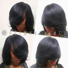 Image result for full bob sew in no leave out