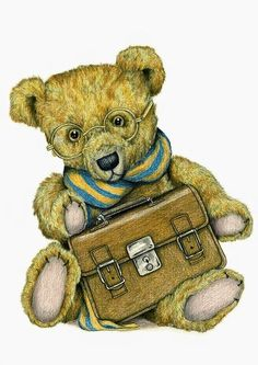 Signed and mounted fine art print on premium quality textured heavy weight art paper X X - X X - greetings cards with envelope X X - Teddy Bear Drawing, Teddy Beer, Bear Paintings, Cute Teddy Bears, Bear Art, Sign Printing, Whimsical Art, Vintage Cards, Wood Signs