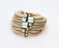 Cord bracelet with opal from Sabrina Dehoff