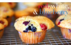 red white and blue muffins