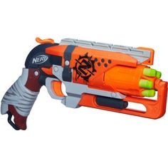 When the zombies strike, you'll be prepped to double-tap them with the Zombie Strike Hammershot blaster! Quick-draw this blaster and pull back the hammer to start firing Zombie Strike darts at your target. Reload fast, check for zombie. Lego Mindstorms, Lego Technic, Puzzle Box, Carrera Digital 143, Pistola Nerf, Nintendo Switch, Nerf Darts, Nerf Toys, Toy R