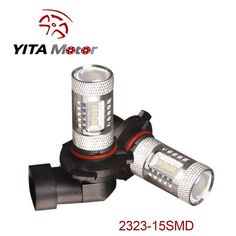 2323 15SMD 760LM Set of 2 LED Fog Light Replacement Bulbs F115-Yita