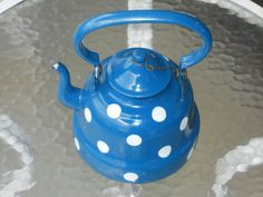 Blue tea kettle