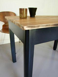 Table de ferme bois patiné.