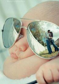 newborn w sunglasses w parent's reflection. LOVE THIS!