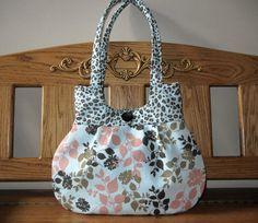 SALE...Sweet Pea Tote Purse Handbag Pale Blue Coral by craftcrazy4u, $35.00