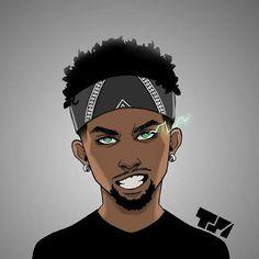 Dope Cartoons, Dope Cartoon Art, Cartoon Art Styles, Girl Cartoon, Drawing Cartoon Characters, Black Anime Characters, Cartoon Drawings, Anime Rapper, Rapper Art