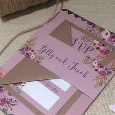 DUSKY PINK FLORAL BLOOM WEDDING INVITATION WITH MATCHING RSVP This beautiful Wedding Invitation is a lovely way to announce your Wedding to your guests. The invitation is available on its own, or with a matching RSVP, wrapped together with a personalised belly band. The stunning floral