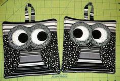 owl pot holders