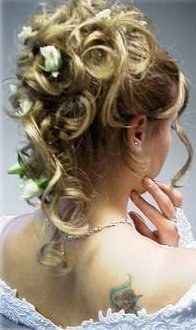 Chignon mariage boucle Coiffure mariage cheveux long