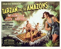(Image) Tarzan of the Apes The Return of Tarzan (Image) The Revenge of Tarzan The Son of Tarzan Classic Movie Posters, Movie Poster Art, Classic Films, Tarzan Of The Apes, Tarzan And Jane, Tarzan Movie, John Carter Of Mars, Romantic Comedy Movies, Adventure Movies