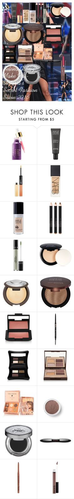 Selena Gomez Make Up - Victoria's Secret Fashion Show 2015 by oroartye-1 on Polyvore featuring beauty, Charlotte Tilbury, NARS Cosmetics, Smashbox, MAKE UP FOR EVER, Illamasqua, MAC Cosmetics, Anastasia Beverly Hills, Urban Decay and Bare Escentuals