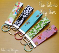 Fun Fabric Fobs For Keys 12 Days of Handmade Christmas Projects: Day 3