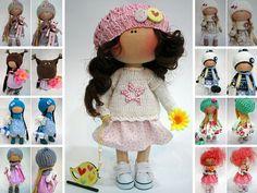 Collection doll Fabric doll  Bambole Art doll White doll Handmade doll Tilda doll Textile doll Nursery doll Muñecas Rag doll by Ksenia Pe