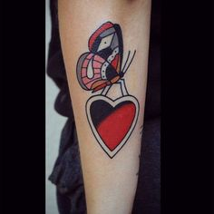 patryk-hilton:  Thanx Dominika! #heart #hearttattoo #butterfly #butterlytattoo #oldlines #clasictattoo #tattoo #supportgoodtattooing #tattoosofinstagram #tattooartist #tattrx #peace     Patryk Hilton