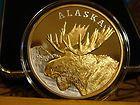 Silver Medallion Proof -  Alaska Mint 1998 Moose Proof State Medallion 999 Fine Silver Gold 9400  http://www.coinsandbullion.net/silver-medallion-proof/#