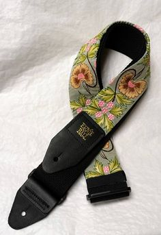 Green Tea Garden Woven Guitar Strap Statement Guitar Strap