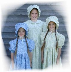 Authentic Amish clothes! Just like Little House on the Prairie!