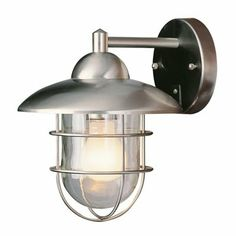 Trans Globe 437 Outdoor Sconce, Stainless Steel - ATG Stores