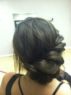 Bridesmaid hair for Erin's wedding :)