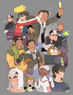 voltron legendary defender lance and keith - Google Search