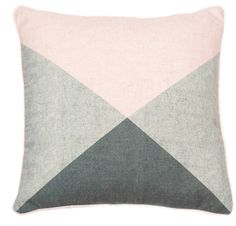 Pastel Pink And Grey Graphic Cushion