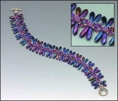 Whimbeads.com Free Tutorial Dragonflies Bracelet