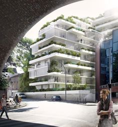 Stefano Boeri Architetti   HARMONIC+MASSON & ASSOCIES   ISSY-LES-MOULINEAUX #fachadasverdesverticalgardens