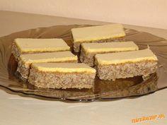 Vynikajúce orechové rezy so žĺtkovou polevou