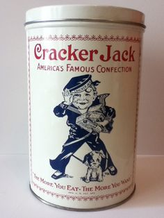 Vintage Cracker Jack Tin, s e g * 1976