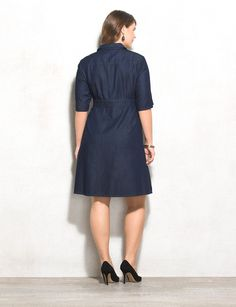 This casual-chic dress takes denim in a whole new direction (and is sure to impress wherever you go). Throw on your go-to heels, add a bracelet or two and you