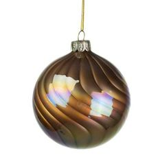 Champagne Gold Pearly Lustre Glass Ball - 80mm