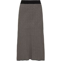 Mat Taupe-Grey / Black Plus Size Woven maxi skirt (115 NZD) ❤ liked on Polyvore featuring skirts, plus size, long black maxi skirt, print maxi skirt, black a line skirt, plus size maxi skirts and plus size long skirts