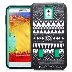 SAMSUNG GALAXY NOTE 3 CASE, SHOCKPROOF DIRT PROOF HYBRID ARMOR COVER (TRIBAL GREEN) | #cellphonegadgets #mobileaccessories www.kuteckusa.com