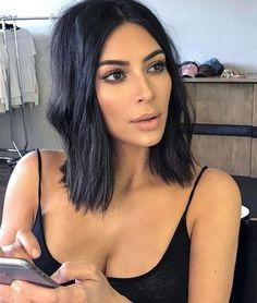 Inspiration beauté : le carré flou de Kim Kardashian