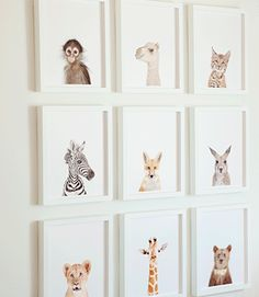 Cute animal art for kids room!
