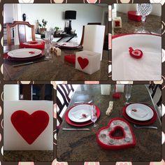 Decoração para mesa de Dia dos Namorados - Love is in the air