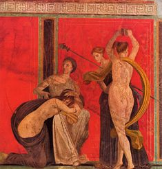 wall painting from the House of the Mysteries, Pompeii