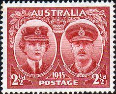 Australia 1945 Duke and Duchess of Gloucester Fine Mint SG 209 Scott 197 Other Australian Stamps HERE
